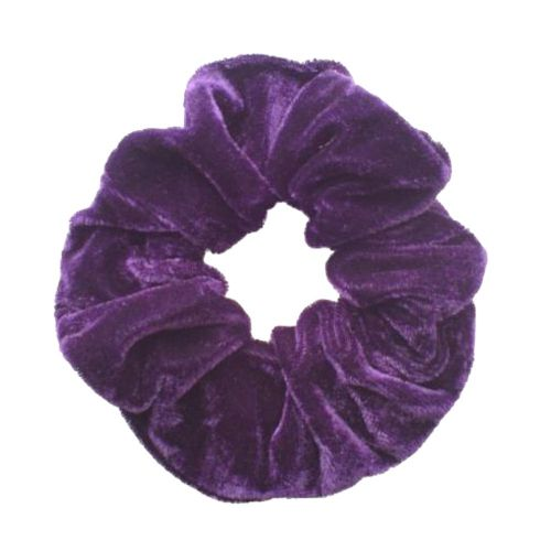 Coloured Velvet Feel Hair Scrunchie Bobble